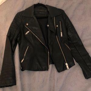 Zara moto leather jacket